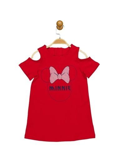 Minnie Mouse Lisanslı Çocuk Elbise 17368 Kırmızı